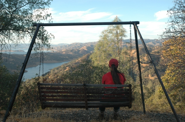 Looking out over Lake Berryessa